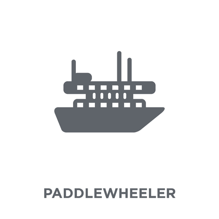 paddlewheeler icon. paddlewheeler design concept from Transportation collection. Simple element vector illustration on white background.