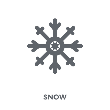 Snow icon. Snow design concept from  collection. Simple element vector illustration on white background.