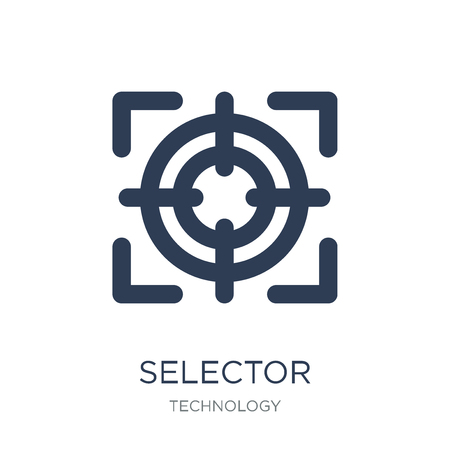 Selector icon. Trendy flat vector Selector icon on white background from Technology collection, vector illustration can be use for web and mobile, eps10