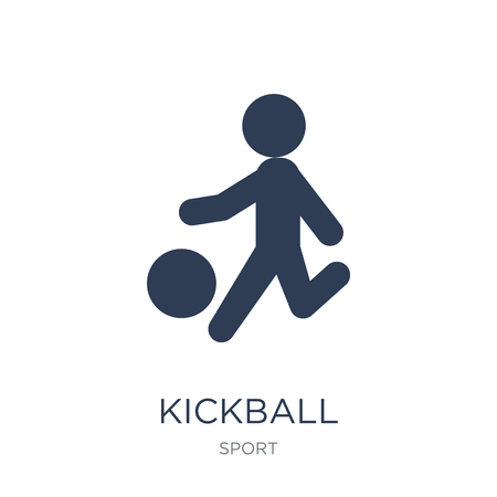 kickball icon. Trendy flat vector kickball icon on white background from sport collection, vector illustration can be use for web and mobile, eps10 Stock Vector - 111976047