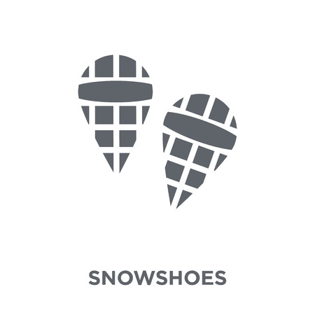Snowshoes icon. Snowshoes design concept from Winter collection. Simple element vector illustration on white background. 일러스트