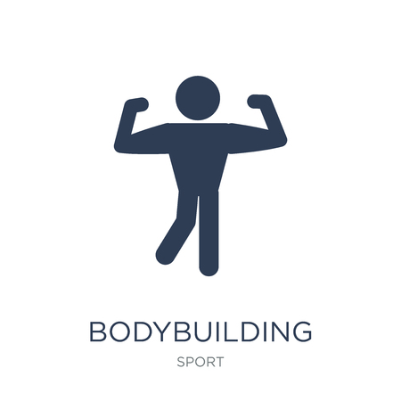 bodybuilding icon. Trendy flat vector bodybuilding icon on white background from sport collection, vector illustration can be use for web and mobile, eps10