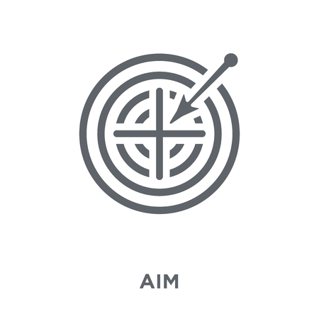 Aim icon. Aim design concept from  collection. Simple element vector illustration on white background. Stock Vector - 112417597