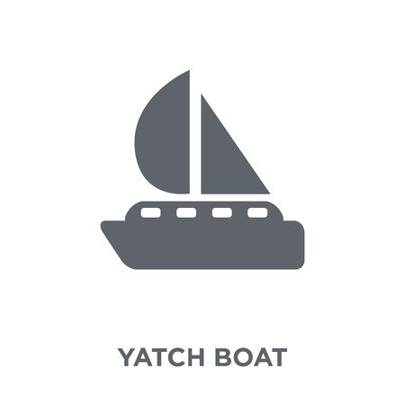 Yatch boat icon. Yatch boat design concept from Summer collection. Simple element vector illustration on white background. Иллюстрация