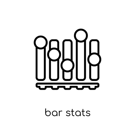 Bar Stats icon. Trendy modern flat linear vector Bar Stats icon on white background from thin line Business and analytics collection, editable outline stroke vector illustration Illustration