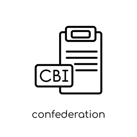 confederation of british industry (cbi) icon. Trendy modern flat linear vector confederation of british industry (cbi) icon on white background from thin line Confederation of British Industry (CBI) collection, outline vector illustration Çizim