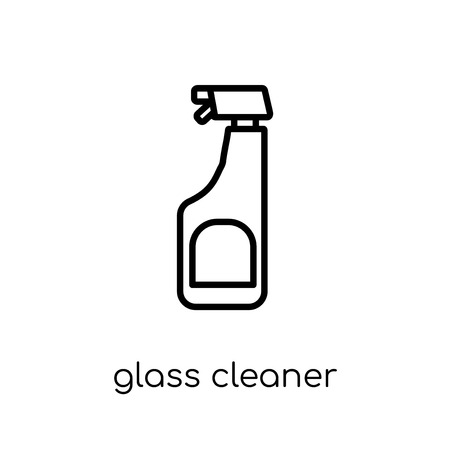 Glass cleaner icon. Trendy modern flat linear vector Glass cleaner icon on white background from thin line Cleaning collection, editable outline stroke vector illustration Stock Vector - 112417608