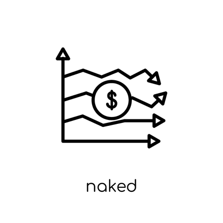 Naked short-selling icon. Trendy modern flat linear vector Naked short-selling icon on white background from thin line Business collection, editable outline stroke vector illustration