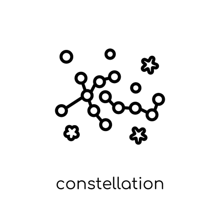 constellation icon. Trendy modern flat linear vector constellation icon on white background from thin line Astronomy collection, outline vector illustration