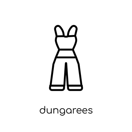 dungarees icon. Trendy modern flat linear vector dungarees icon on white background from thin line Dungarees collection, outline vector illustration