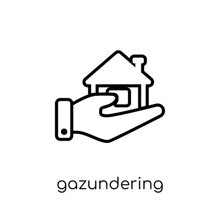 Gazundering icon. Trendy modern flat linear vector Gazundering icon on white background from thin line Business collection, editable outline stroke vector illustration