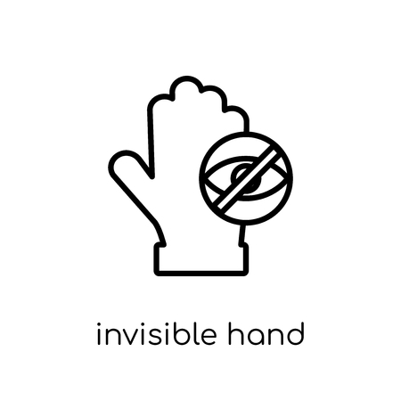 Invisible hand icon. Trendy modern flat linear vector Invisible hand icon on white background from thin line Business collection, editable outline stroke vector illustration Illustration