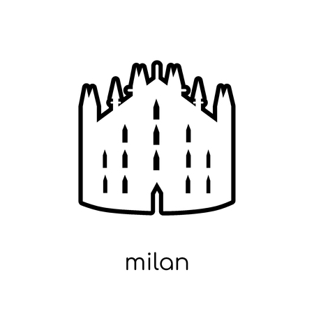 Milan icon. Trendy modern flat linear vector Milan icon on white background from thin line Architecture and Travel collection, editable outline stroke vector illustration