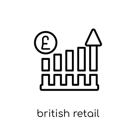 british retail consortium icon. Trendy modern flat linear vector british retail consortium icon on white background from thin line British Retail Consortium collection, outline vector illustration