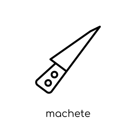 machete icon. Trendy modern flat linear vector machete icon on white background from thin line Cinema collection, editable outline stroke vector illustration