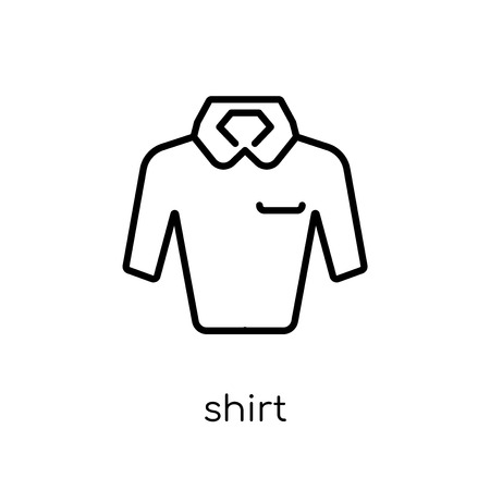 shirt icon. Trendy modern flat linear vector shirt icon on white background from thin line collection, outline vector illustration Illustration