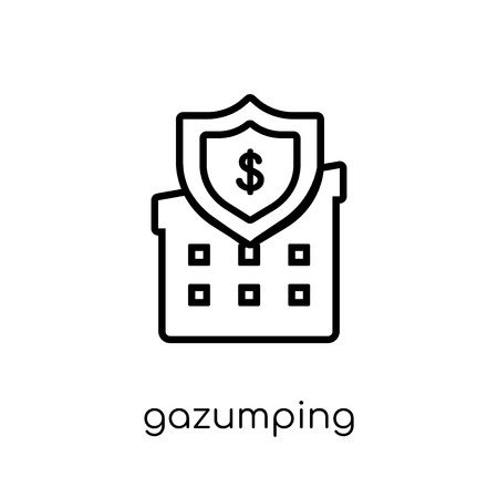 Gazumping icon. Trendy modern flat linear vector Gazumping icon on white background from thin line Business collection, editable outline stroke vector illustration Иллюстрация