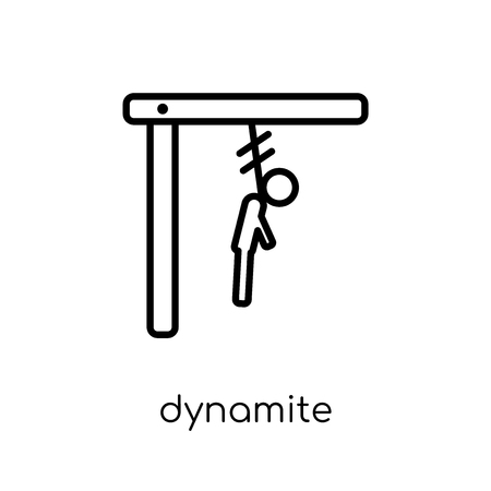 dynamite icon. Trendy modern flat linear vector dynamite icon on white background from thin line Army collection, outline vector illustration
