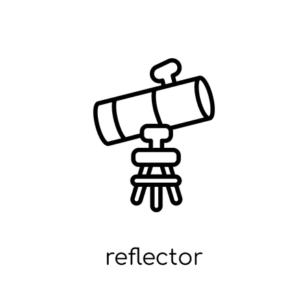reflector icon. Trendy modern flat linear vector reflector icon on white background from thin line Astronomy collection, outline vector illustration