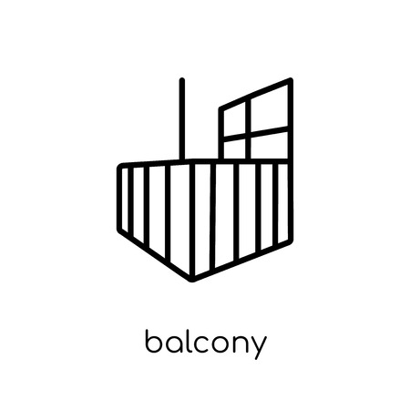 Balcony icon. Trendy modern flat linear vector Balcony icon on white background from thin line Architecture and Travel collection, editable outline stroke vector illustration