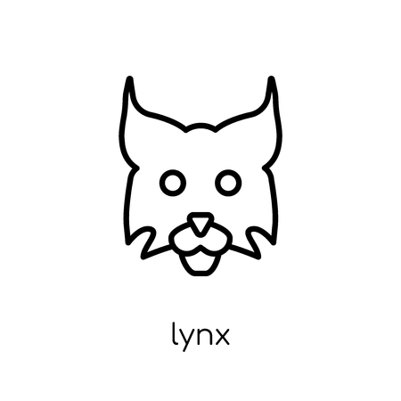 Lynx icon. Trendy modern flat linear vector Lynx icon on white background from thin line animals collection, editable outline stroke vector illustration