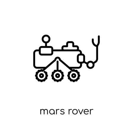 mars rover icon. Trendy modern flat linear vector mars rover icon on white background from thin line Astronomy collection, outline vector illustration