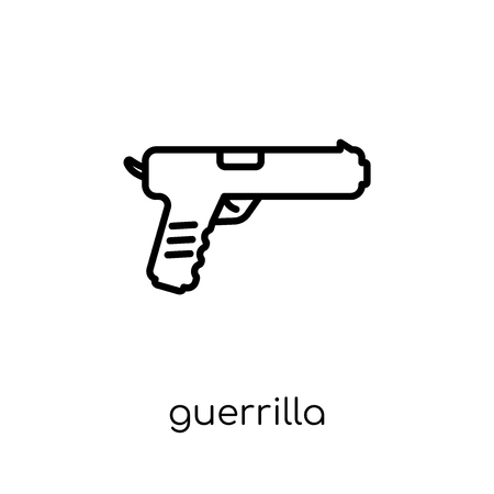 guerrilla icon. Trendy modern flat linear vector guerrilla icon on white background from thin line Army collection, outline vector illustration Archivio Fotografico - 112417757