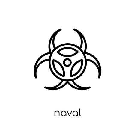 naval icon. Trendy modern flat linear vector naval icon on white background from thin line Army collection, outline vector illustration