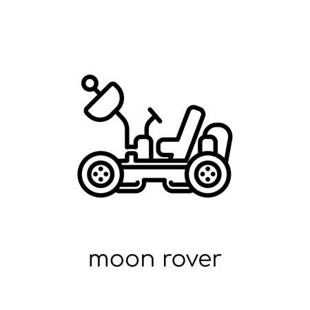 moon rover icon. Trendy modern flat linear vector moon rover icon on white background from thin line Astronomy collection, outline vector illustration 矢量图像