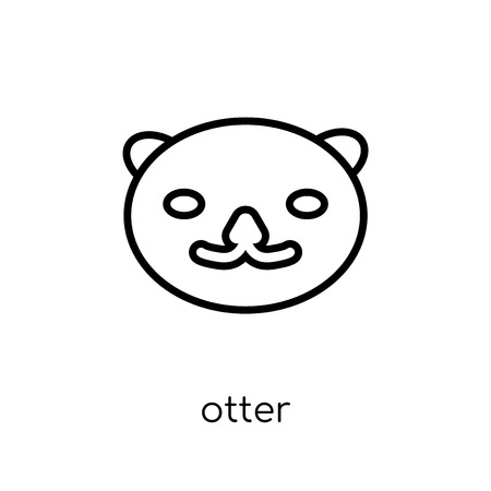 Otter icon. Trendy modern flat linear vector Otter icon on white background from thin line animals collection, editable outline stroke vector illustration Ilustração