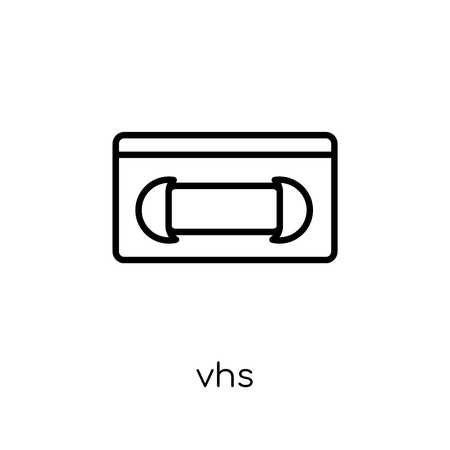 Vhs icon. Trendy modern flat linear vector Vhs icon on white background from thin line Cinema collection, editable outline stroke vector illustration