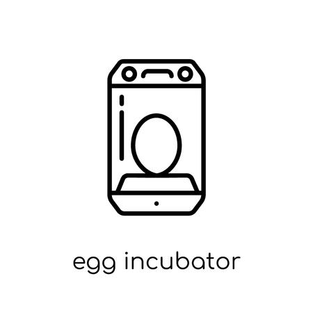 egg incubator icon. Trendy modern flat linear vector egg incubator icon on white background from thin line Artificial Intelligence, Future Technology collection, outline vector illustration 向量圖像
