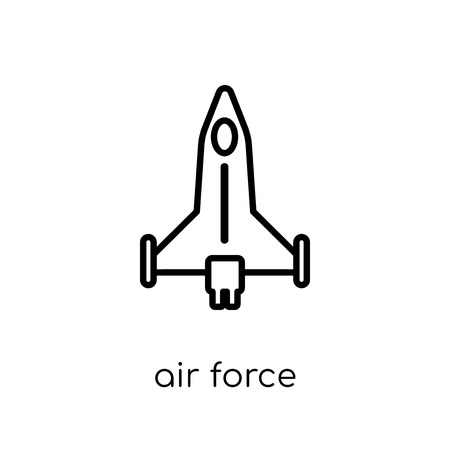 air force icon. Trendy modern flat linear vector air force icon on white background from thin line Army collection, outline vector illustration Illustration