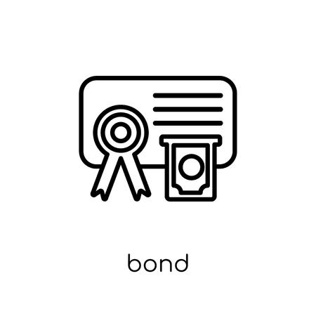 Bond-Symbol. Trendiges modernes flaches lineares Vektor-Bond-Symbol auf weißem Hintergrund aus dünner Linie Bond-Sammlung, Umrissvektorillustration