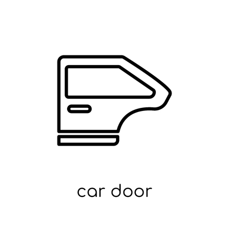car door icon. Trendy modern flat linear vector car door icon on white background from thin line Car parts collection, outline vector illustration