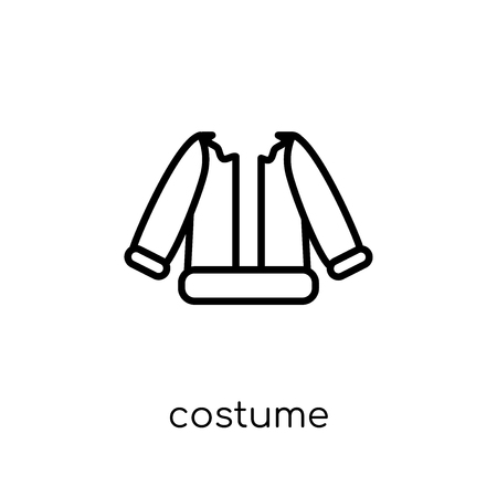costume icon. Trendy modern flat linear vector costume icon on white background from thin line Christmas collection, outline vector illustration