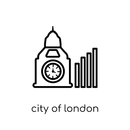 city of london icon. Trendy modern flat linear vector city of london icon on white background from thin line City of London collection, outline vector illustration