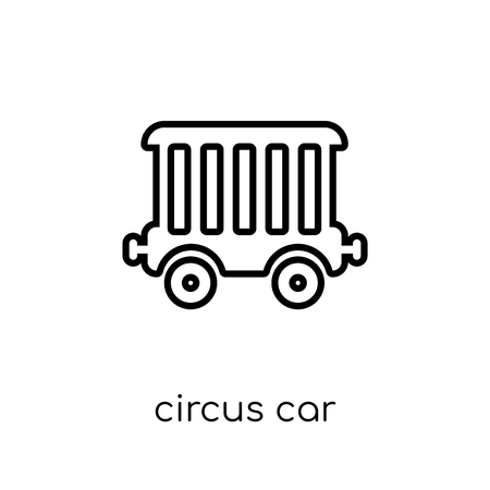 circus car icon. Trendy modern flat linear vector circus car icon on white background from thin line Circus collection, outline vector illustration