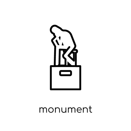 Monument icon. Trendy modern flat linear vector Monument icon on white background from thin line Architecture and Travel collection, editable outline stroke vector illustration