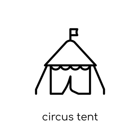 circus tent icon. Trendy modern flat linear vector circus tent icon on white background from thin line Circus collection, outline vector illustration