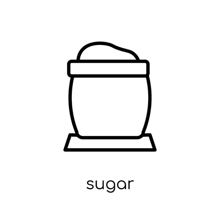 sugar icon. Trendy modern flat linear vector sugar icon on white background from thin line Agriculture, Farming and Gardening collection, outline vector illustration