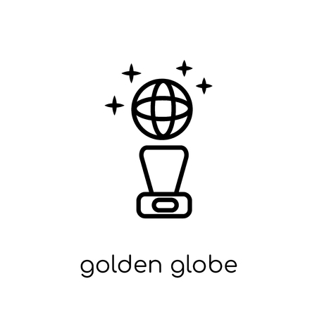 Golden globe icon. Trendy modern flat linear vector Golden globe icon on white background from thin line Cinema collection, editable outline stroke vector illustration