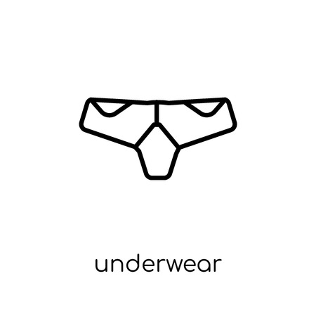 underwear icon. Trendy modern flat linear vector underwear icon on white background from thin line collection, outline vector illustration Illustration