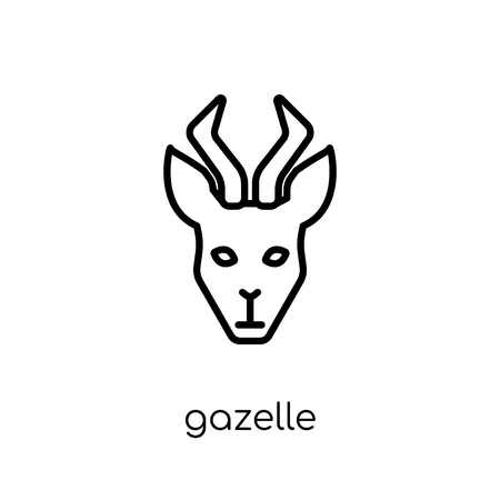 Gazelle icon. Trendy modern flat linear vector Gazelle icon on white background from thin line animals collection, editable outline stroke vector illustration