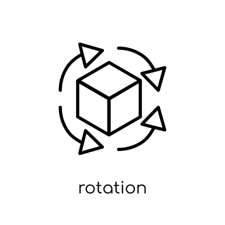 Rotation icon. Trendy modern flat linear vector Rotation icon on white background from thin line Artificial Intelligence, Future Technology collection, editable outline stroke vector illustration Stock Illustratie