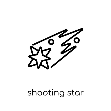 shooting star icon. Trendy modern flat linear vector shooting star icon on white background from thin line Astronomy collection, outline vector illustration Ilustração