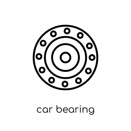 car bearing icon. Trendy modern flat linear vector car bearing icon on white background from thin line Car parts collection, outline vector illustration