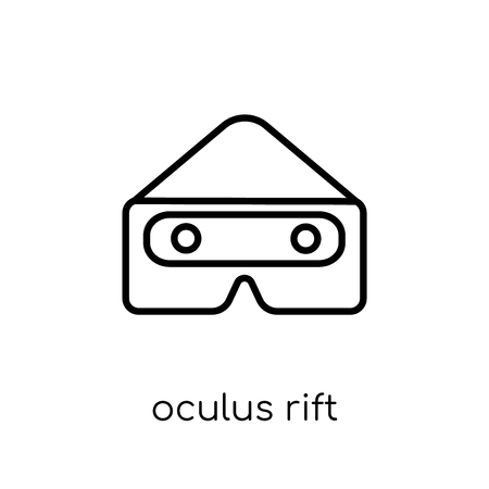 oculus rift icon. Trendy modern flat linear vector oculus rift icon on white background from thin line Artificial Intelligence, Future Technology collection, outline vector illustration