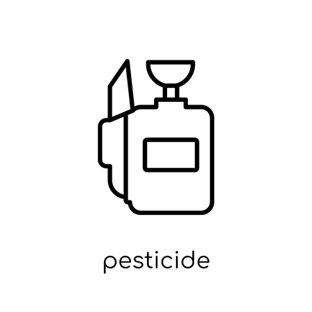 pesticide icon. Trendy modern flat linear vector pesticide icon on white background from thin line Agriculture, Farming and Gardening collection, outline vector illustration