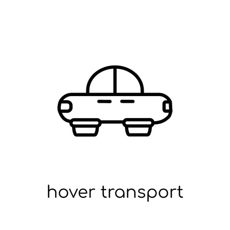 hover transport icon. Trendy modern flat linear vector hover transport icon on white background from thin line Artificial Intelligence, Future Technology collection, outline vector illustration Banque d'images - 112418534